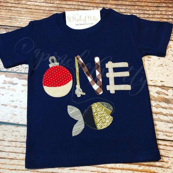First Birthday Shirt One Baby Boy Fish