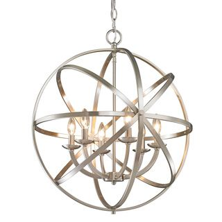 Foucaultu0027s Orb Chrome Chandelier Light Fixture