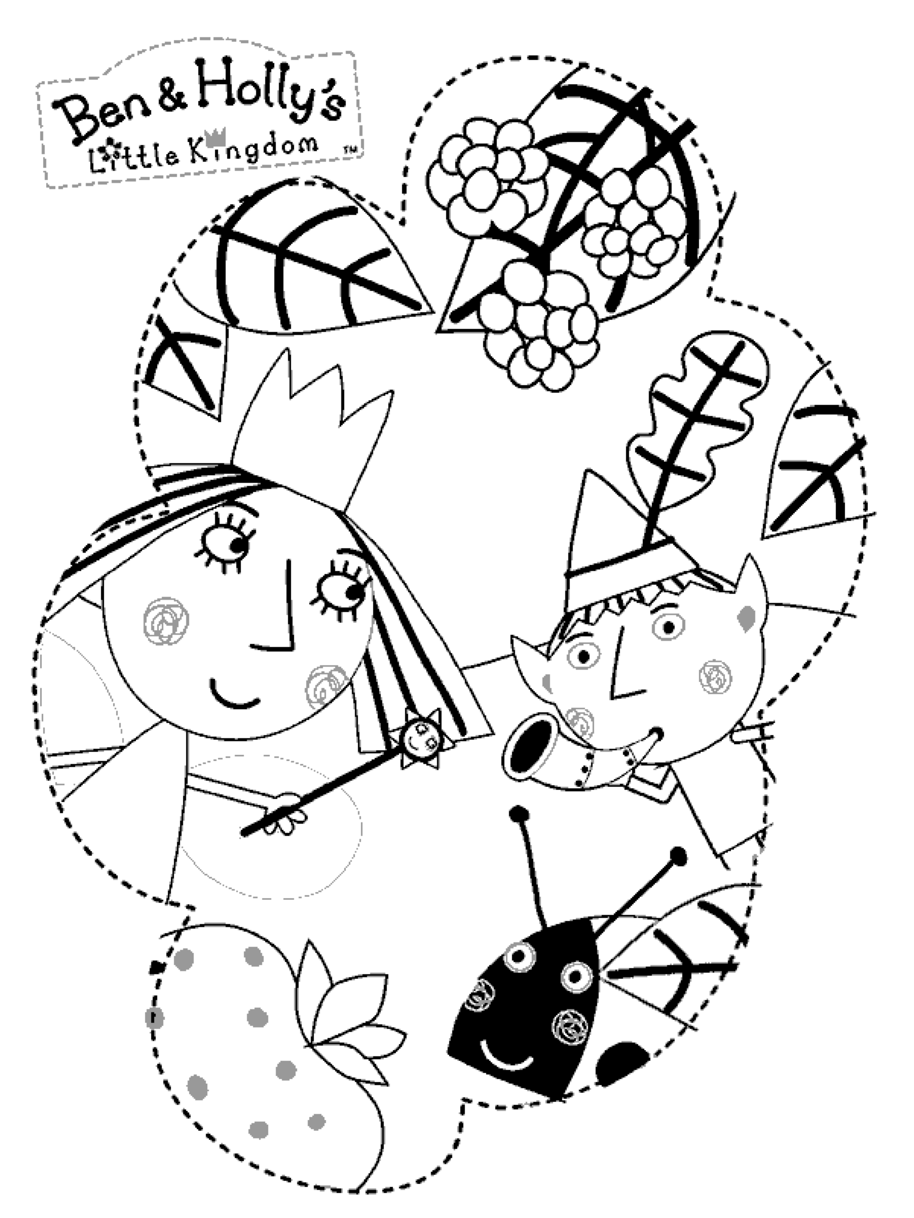 Princess holly coloring pages