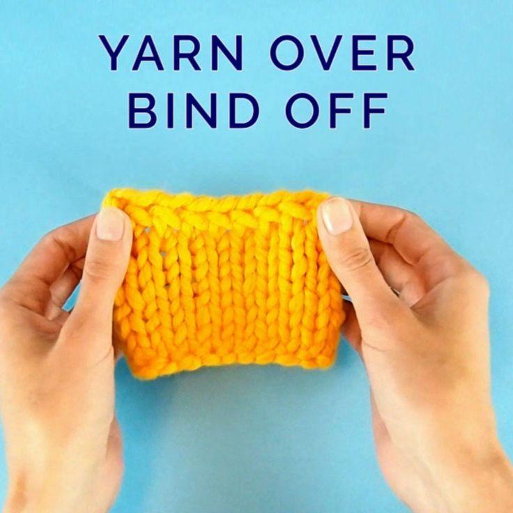 Bind Off Knitting, Stretchy