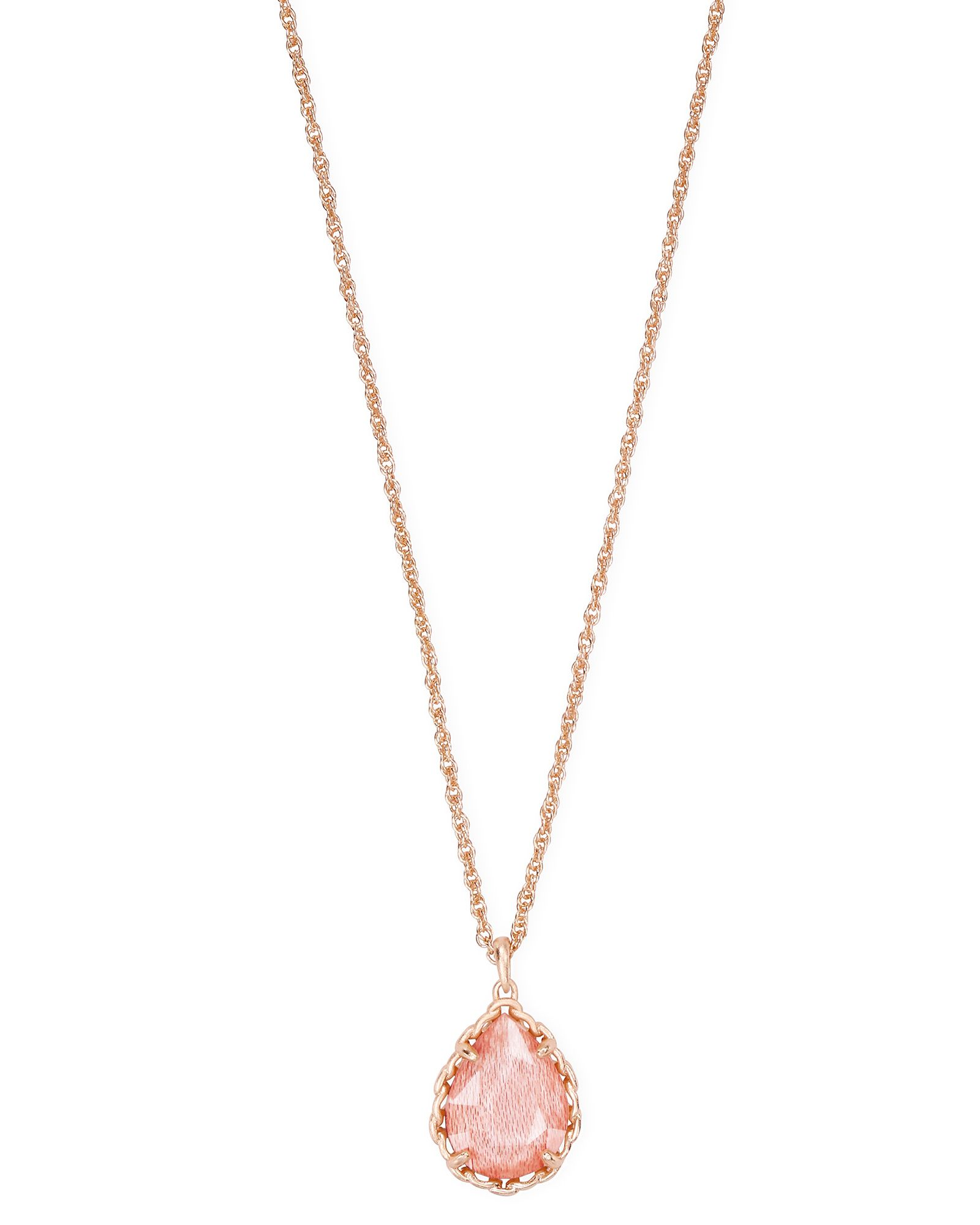 Macrame Dee Rose Gold Pendant Necklace In Blush Wood In 2020 Rose Gold Pendant Rose Gold Pendant Necklace Pink Necklace