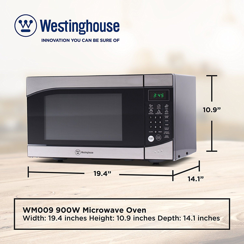 Amazon Com Westinghouse Wm009 900 Watt Counter Top Microwave Oven