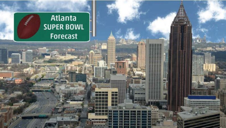 Atlanta Super Bowl Week Forecast Dry Turning Milder Into Late Week Then Rain Possible Super Bowl Weekend The Weather Channel Articles From The Weather Ch Super Bowl Super Bowl Weekend