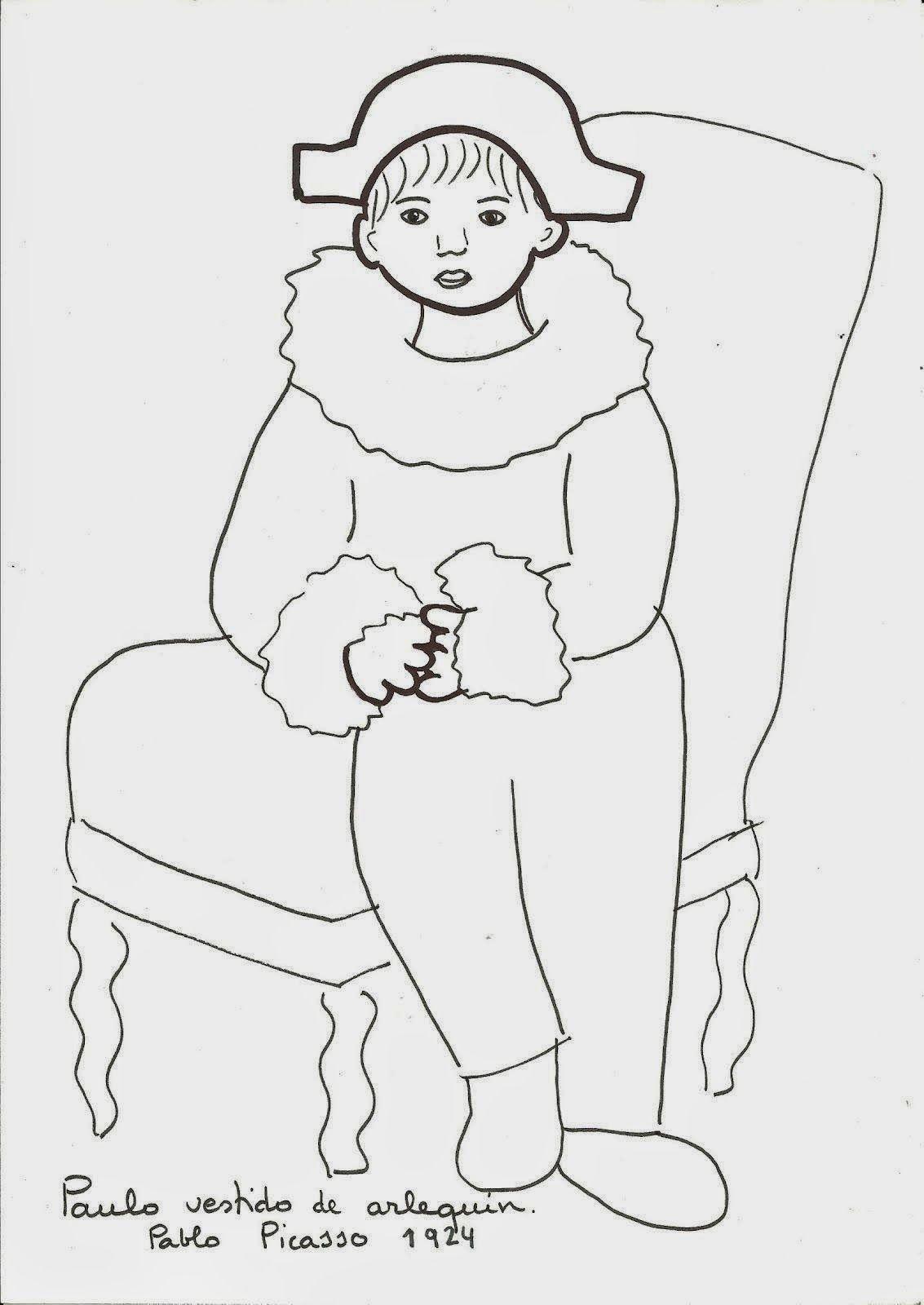 Pablo Picasso | coloring paces dibujos para colorear | Pinterest ...
