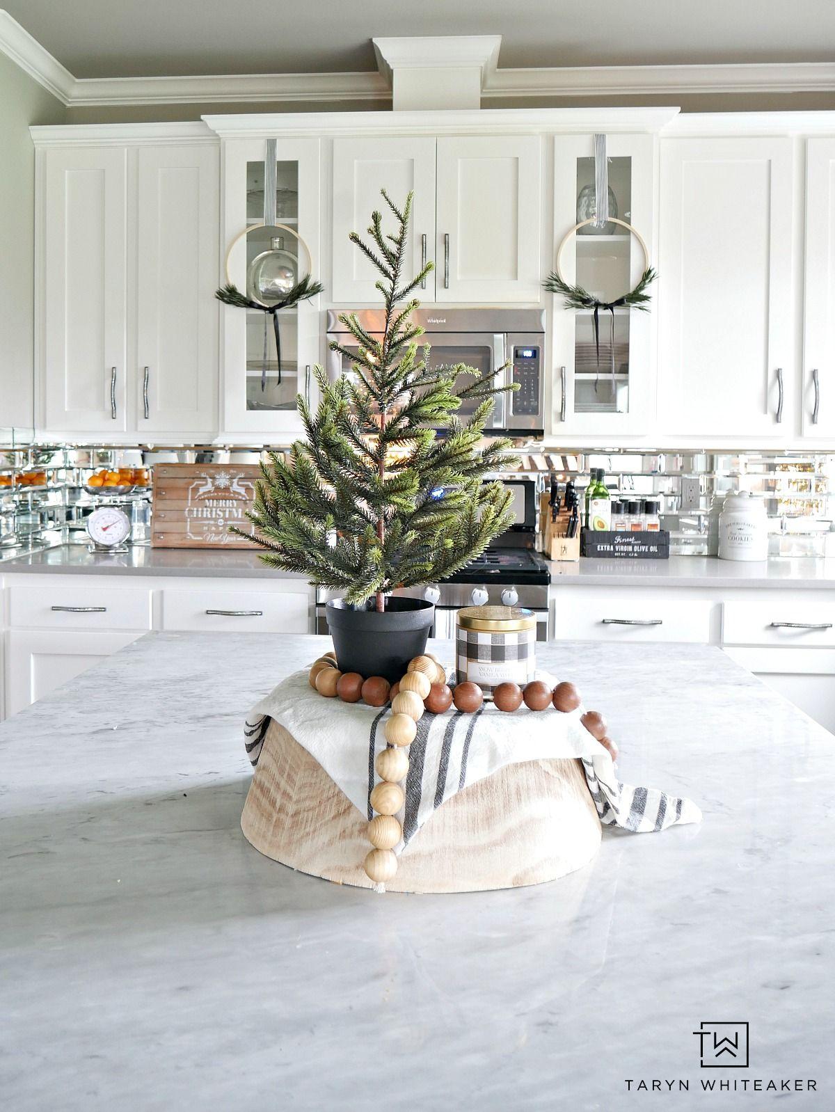 Green Black and White Christmas Home Tour | Pinterest | Greenery ...