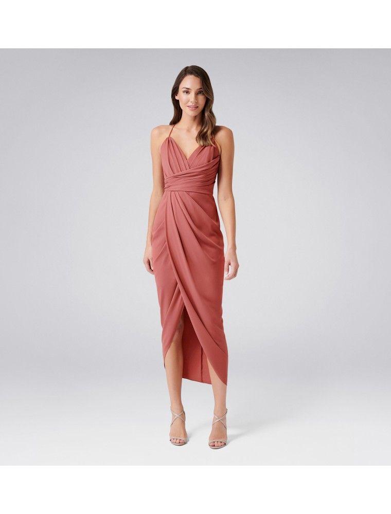 Charlotte Drape Maxi Dress Navy - Womens Fashion | Forever New #weddingguestdress
