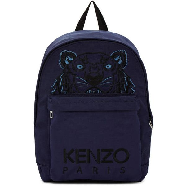 5d5f74819 Kenzo Navy Large Tiger Canvas Backpack ($230) ❤ liked on Polyvore featuring  men's fashion, men's bags, men's backpacks, navy and mens canvas backpack