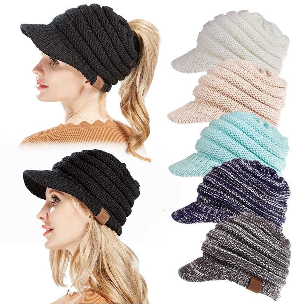 15b00d0200c Womens Ladies Ponytail Cap Warm Knitted Crochet Oversized Ski Slouch Beanie  Hat  fashion  clothing  shoes  accessories  womensaccessories  hats (ebay  link)