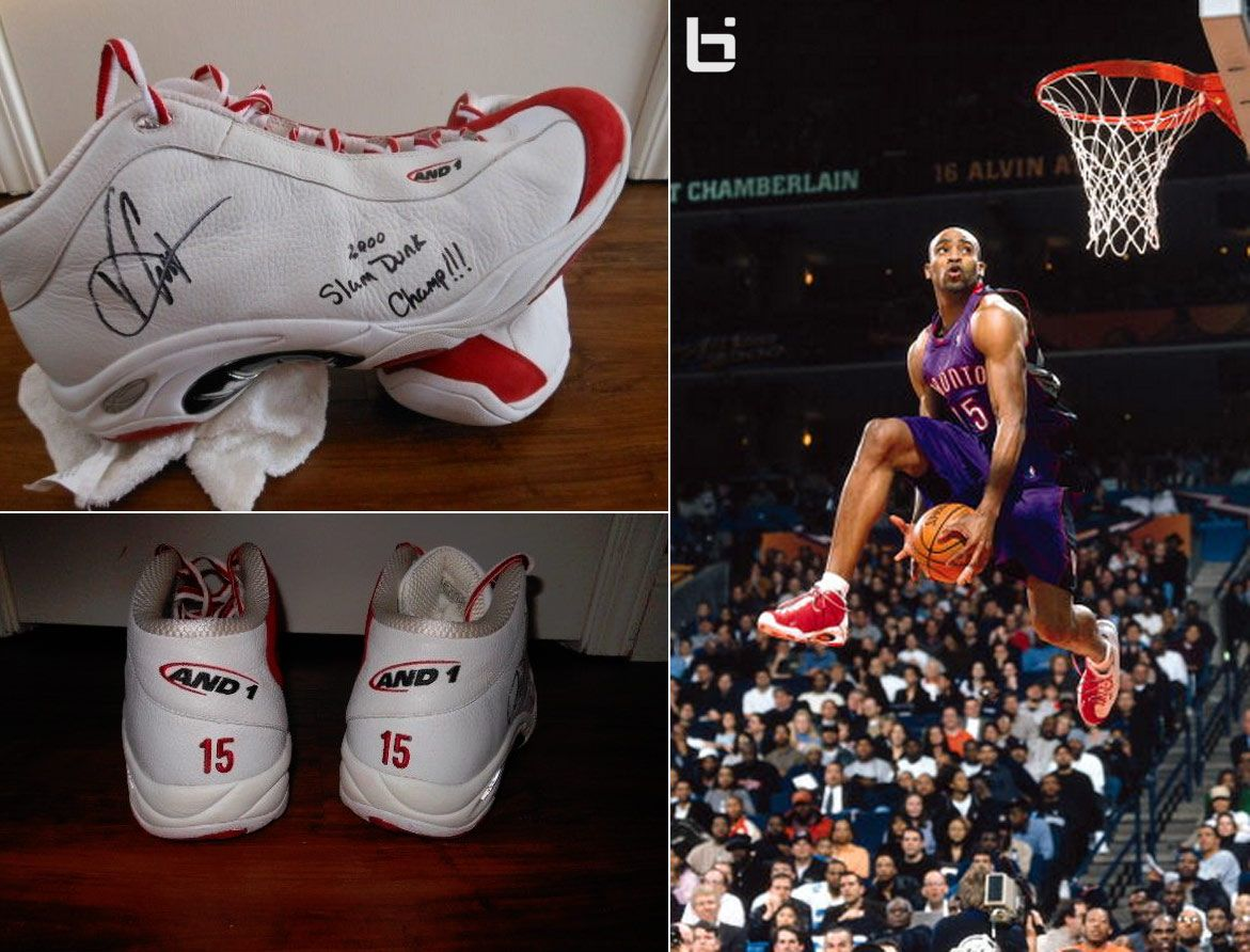 Vince Carter's custom And1 shoes worn in the Dunk Contest