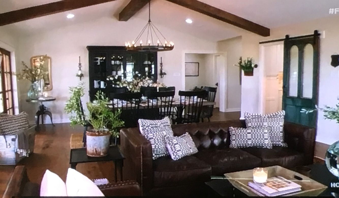Vintage French Soul Retiring To The Country Fixer Upper Episode Hello Blues And White With Dark Furniture
