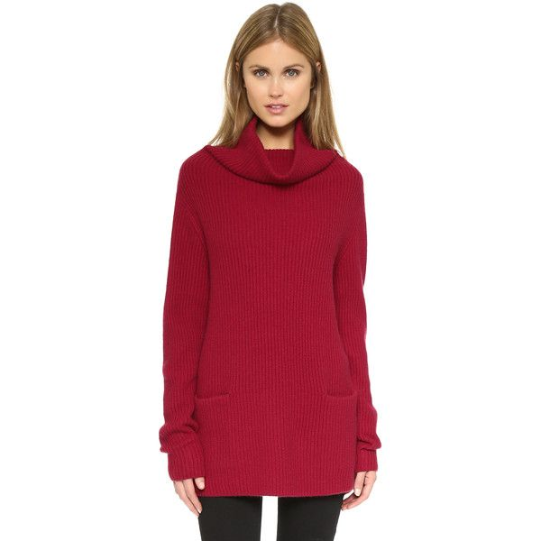 Vince Front Pocket Cowl Sweater ($445) ❤ liked on Polyvore ...