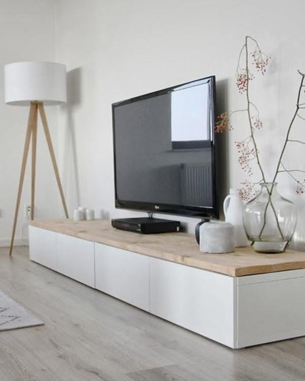 meubles télé en bois pour un look rustique ou classique   meubles ... - Meuble Tv Angle Design Salon