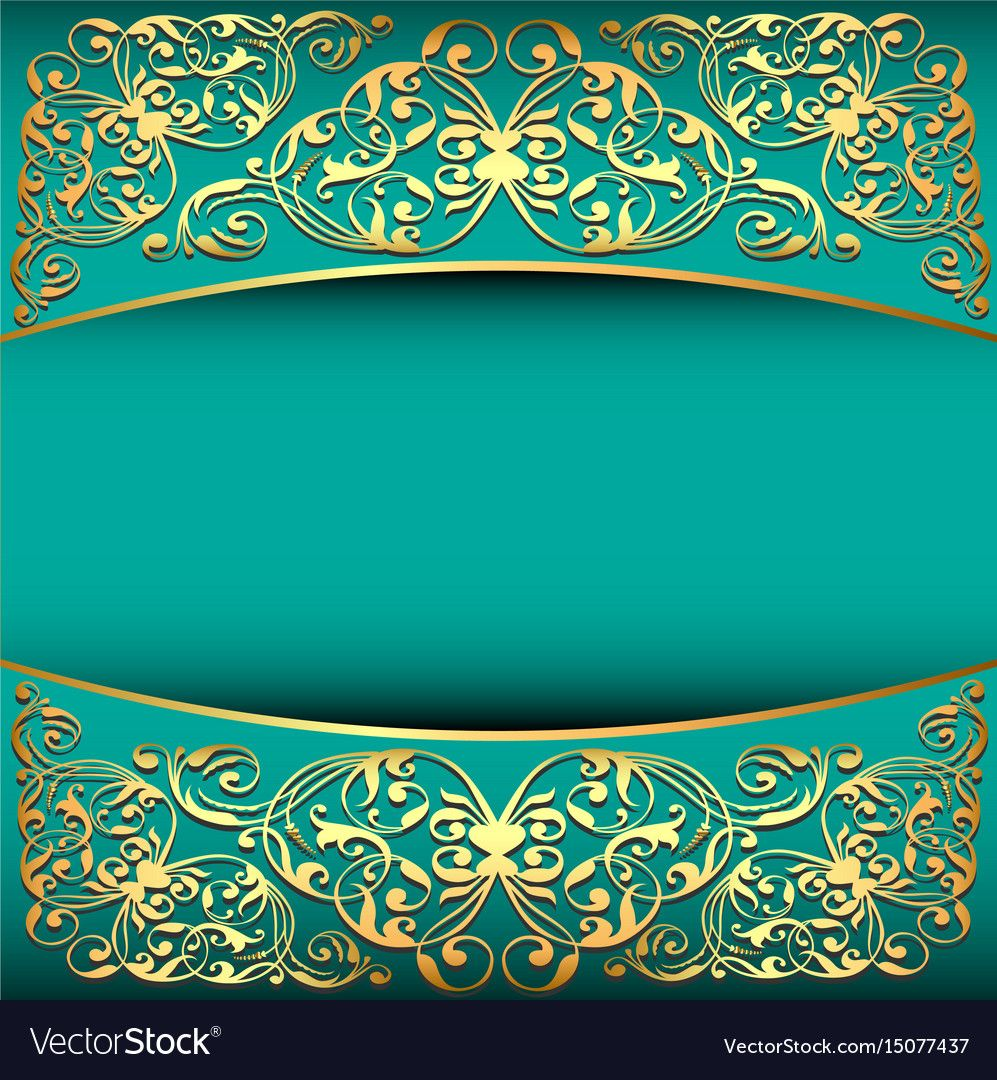 Vintage Background Frame With Gold Ornament And Vector Image On Vectorstock In 2020 Background Vintage Flower Background Wallpaper Gold Ornaments