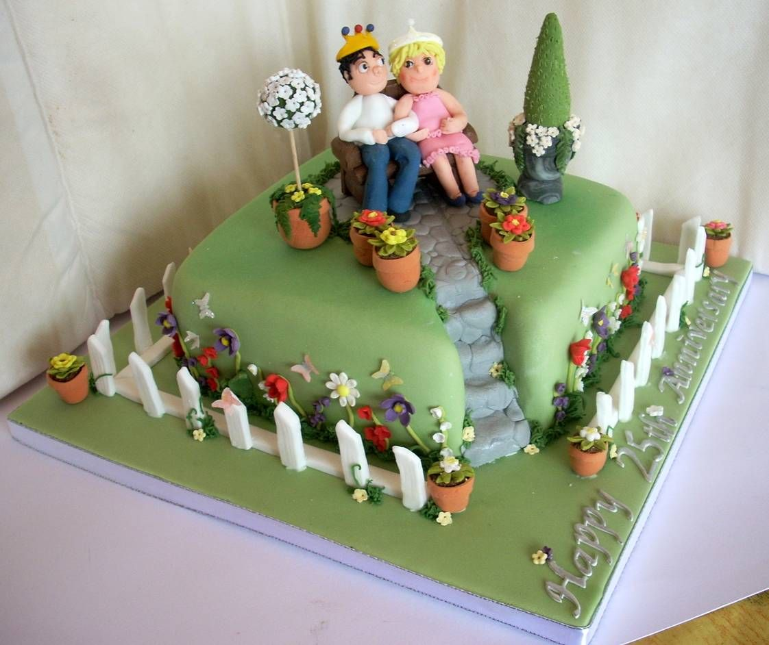 garden cakes - Garden Design Birthday Cake