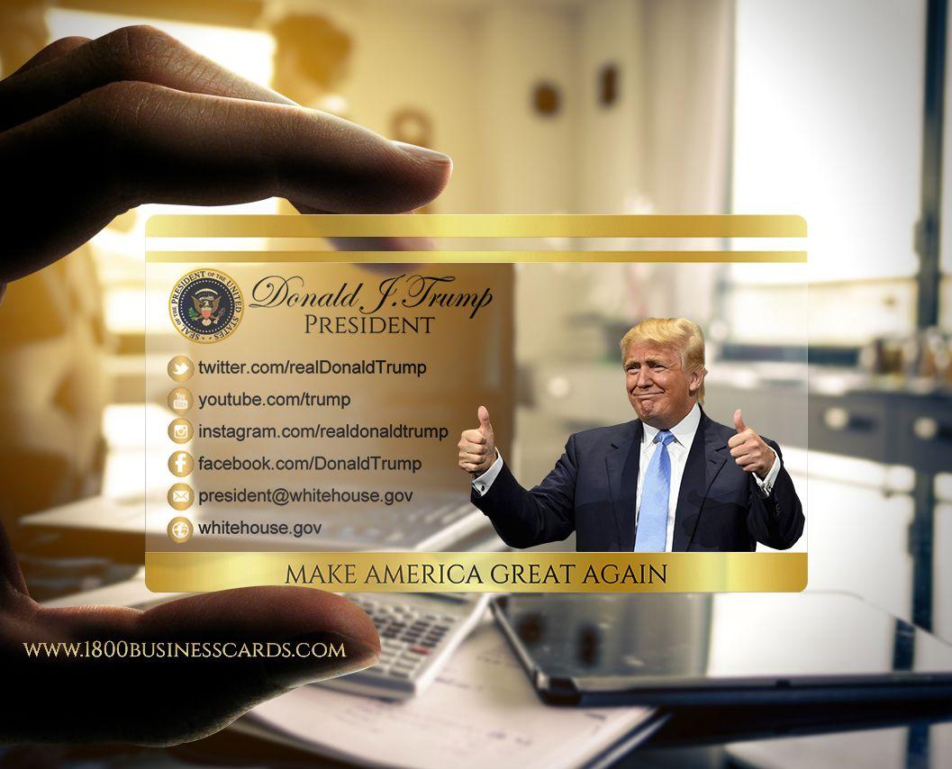 a donald trump presidential business card httpblog1800businesscardscom