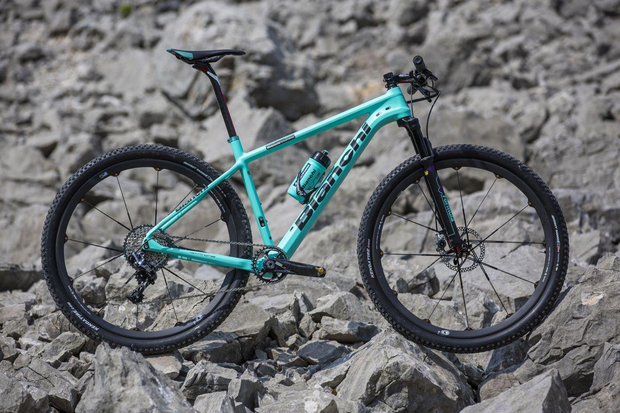 Bianchi S New Methanol Cv Displayed In Albstadt Mountain Bike Brands All Terrain Bicycle Mtb Bike