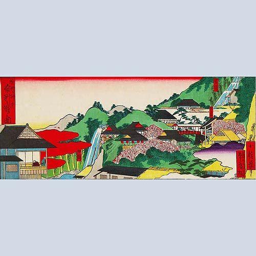 摂州神戸布引の滝之図