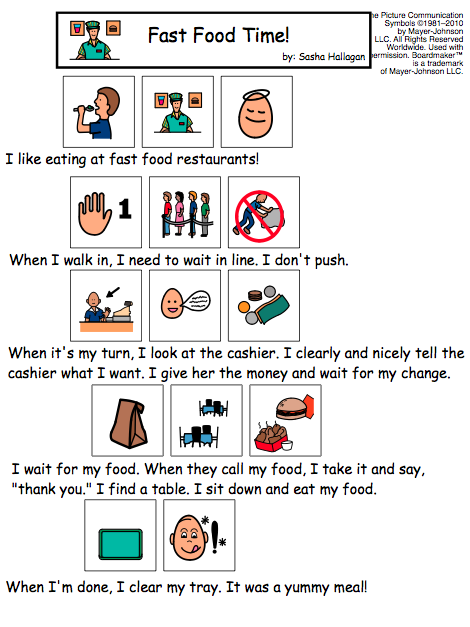 Visual Social Story Packet for Children with Autism ...