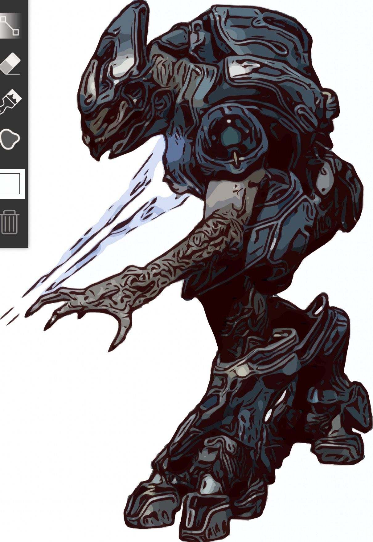 Pin by Rowland Miller on Halo Halo, Alien, Humanoid sketch