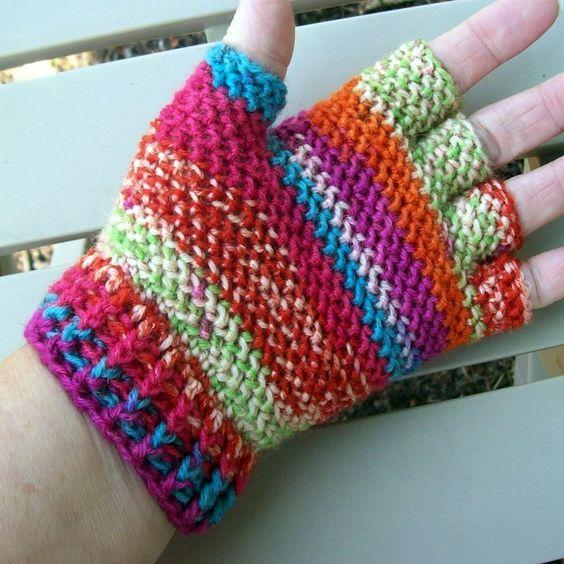 Crochet Gloves Without Fingers Look Fingerless Or Half Finger