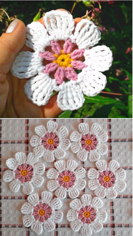 Easy flower also amigurumis pinterest crochet flowers and rh
