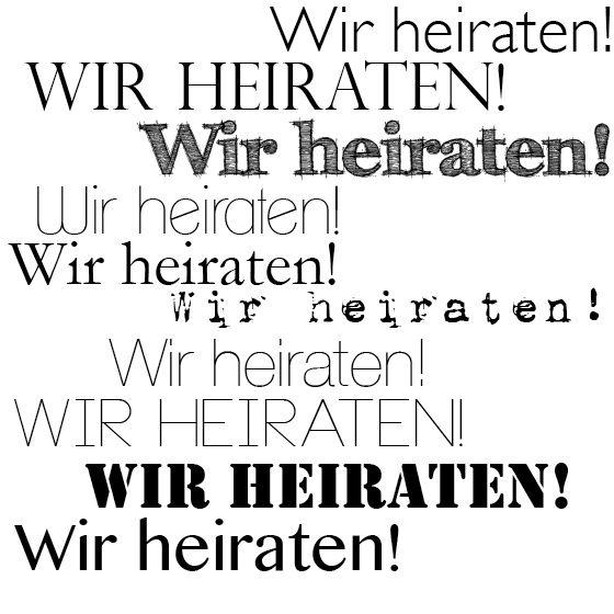 Schriftarten Für Die Hochzeitseinladungu2026 (Fräulein K. Sagt Ja).  SchrifttypenPolterabendSuchtHeiratenEinladungskartenGrafik ...