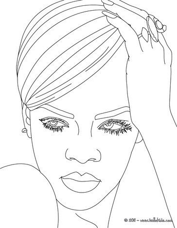 Rihanna Coloring Page More Singer Coloring Pages On Hellokids Com In 2020 Star Coloring Pages People Coloring Pages Coloring Pages