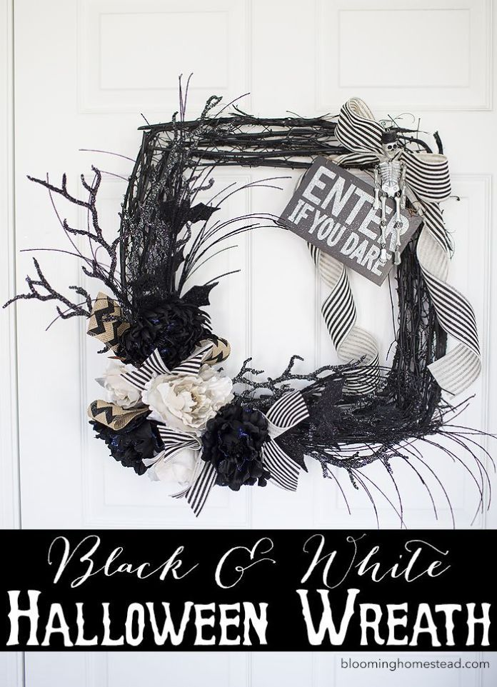 Best Diy Crafts Ideas For Your Home  DIY Glam Halloween Wreath - halloween design