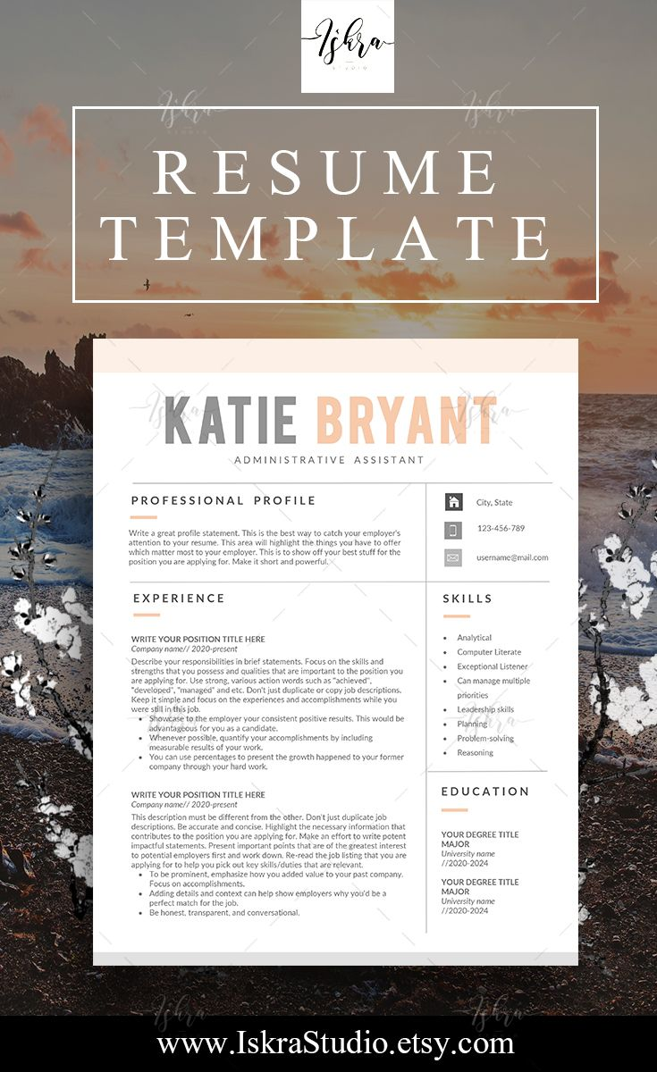 Pin By Iskra Studio On Resume Templates    Products