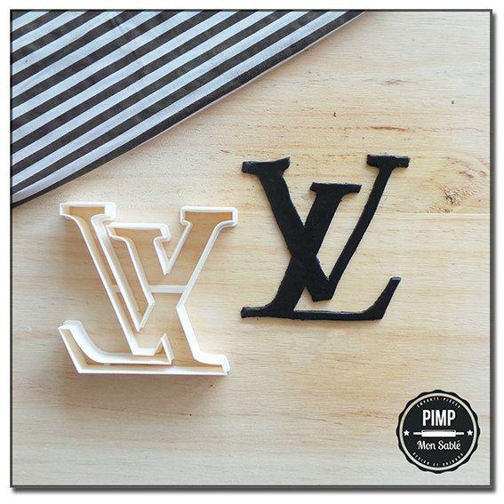 gelbes kuchendesign logos, cookie-cutter 3d-logo louis vuitton - verbessern sie ihre kuchen, Design ideen