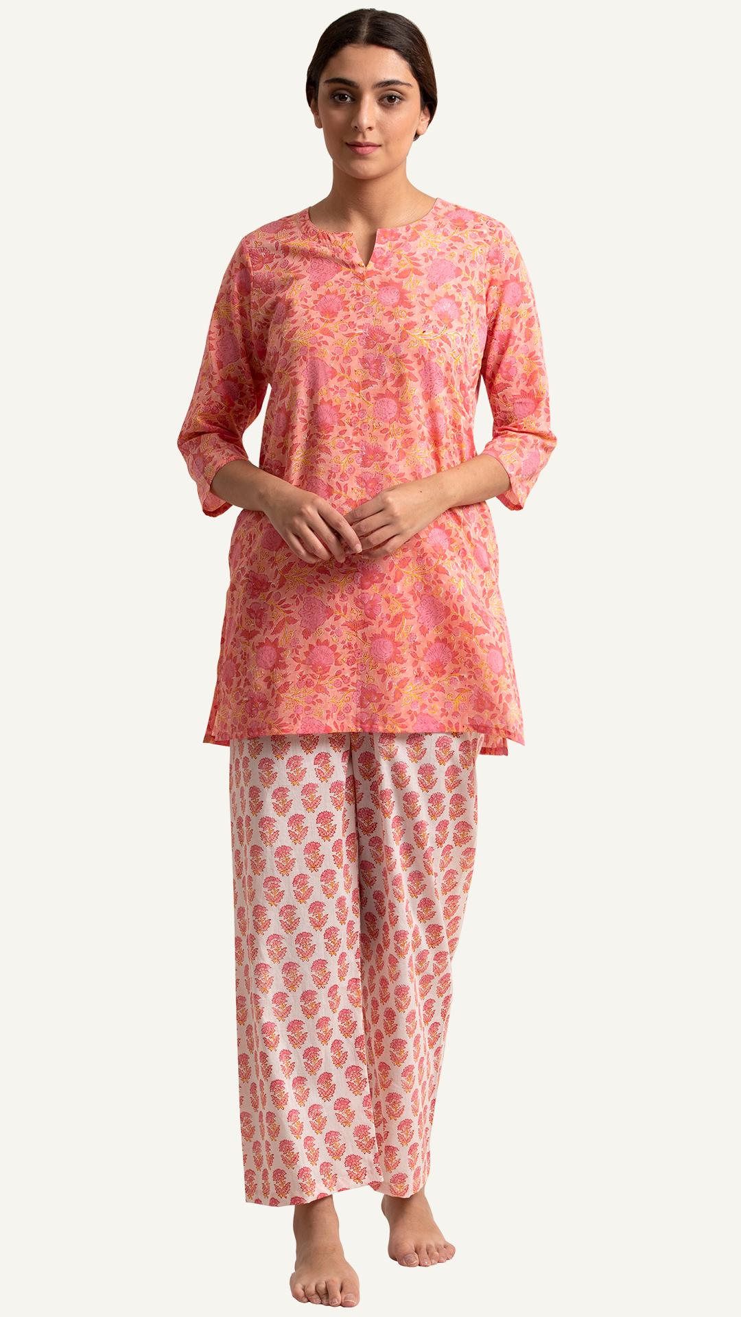 Gulbahar Zohra Nightsuit Night Suit For Women Girls Night Dress Cotton Night Dress [ 1920 x 1080 Pixel ]