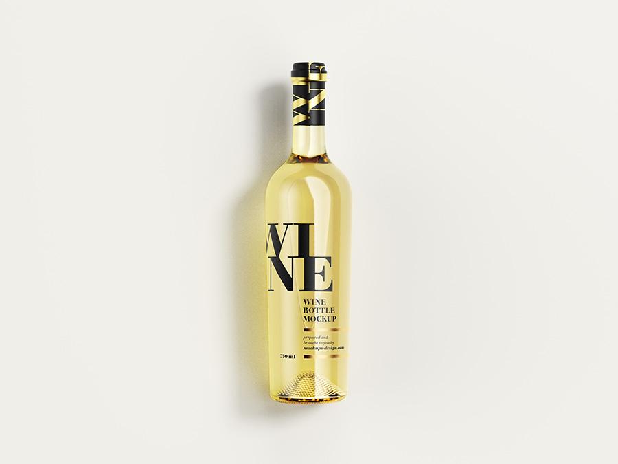 Free White Wine Bottle Mockup Mockups Design Bottle Mockup Bottle Elegant Wine Bottle