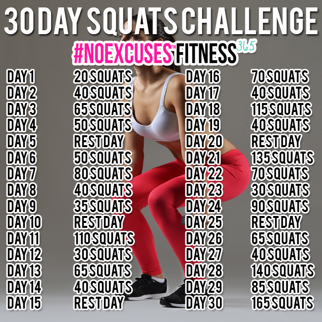 30 Day Squat Challenge - Hairspray and Highheels
