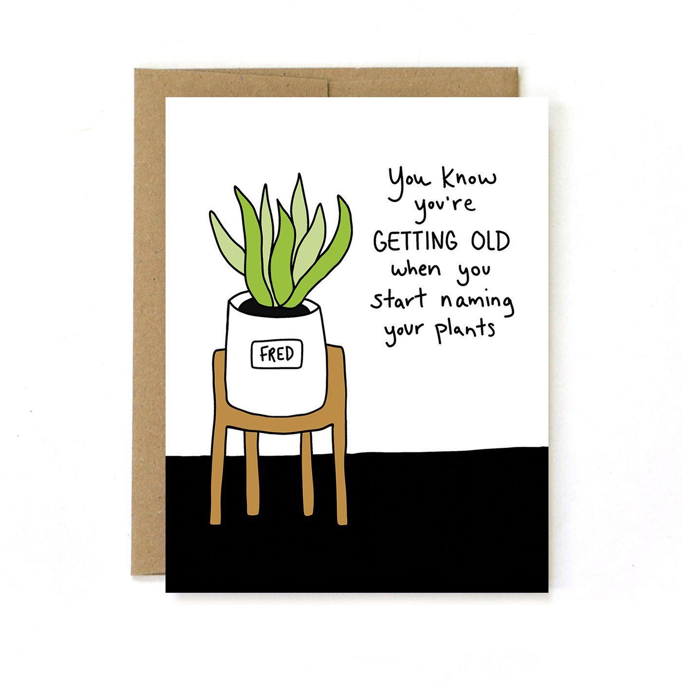 Naming Plants Funny Birthday Card