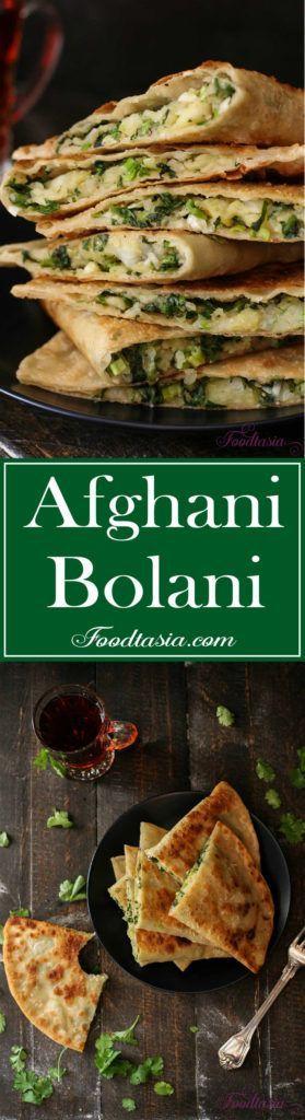 Afghani Bolani - Potato, Green Onion, and Cilantro Stuffed Flatbread | Foodtasia