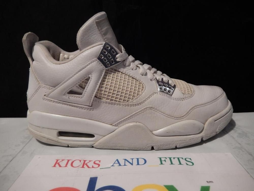 9f12945886d VTG 2006 Nike Air Jordan 4 IV Retro Pure Money White sz 8 w/og Box 308497- 102 #Nike #AthleticSneakers