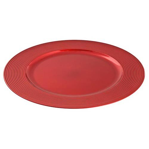 Charger Plates In Red Gold Or Silver Poundland