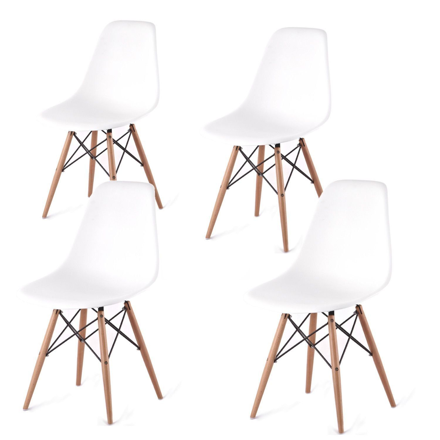 Chaise Design Eames Dsw Blanche.Chaises Design Eames Dsw Blanc 4u Set De Chaises Amazon