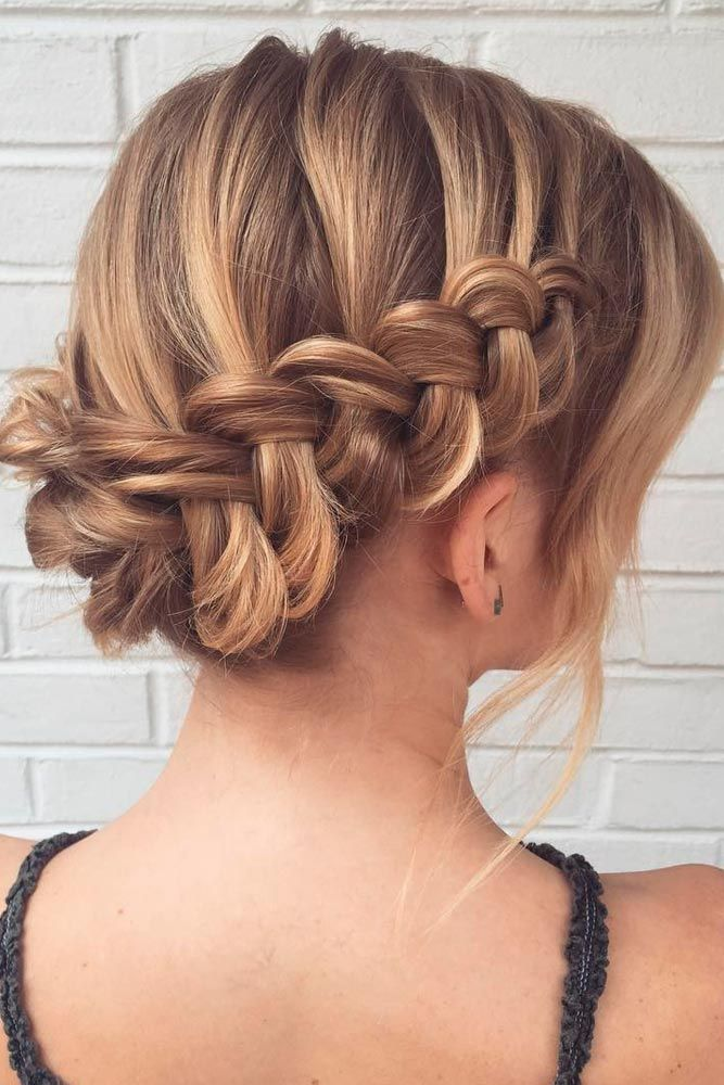 33 Amazing Prom Hairstyles For Short Hair 2020 Fine Hair Updo Thin Hair Updo Braids For Short Hair