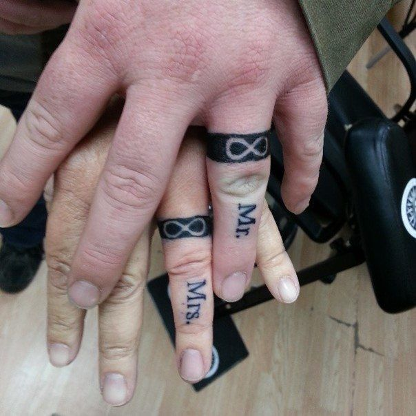 Wedding Ring Tattoos for Men | Wedding ring tattoos, Ring tattoos ...