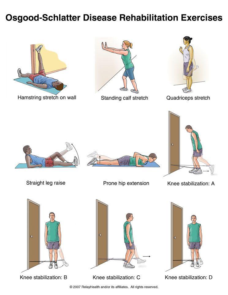 Osgood Schlatter Disease Rehabilitation Exercises Also
