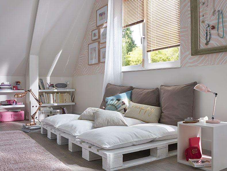 Combles cosy des combles aménagés en chambre cosy très douce la décoration repose