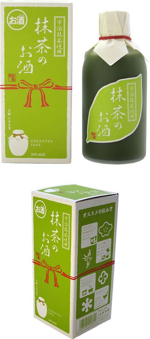 Matcha Sake Japanese Rice Wine With Green Tea 神聖 抹茶のお酒 パッケージデザイン 和 デザイン お酒 パッケージ