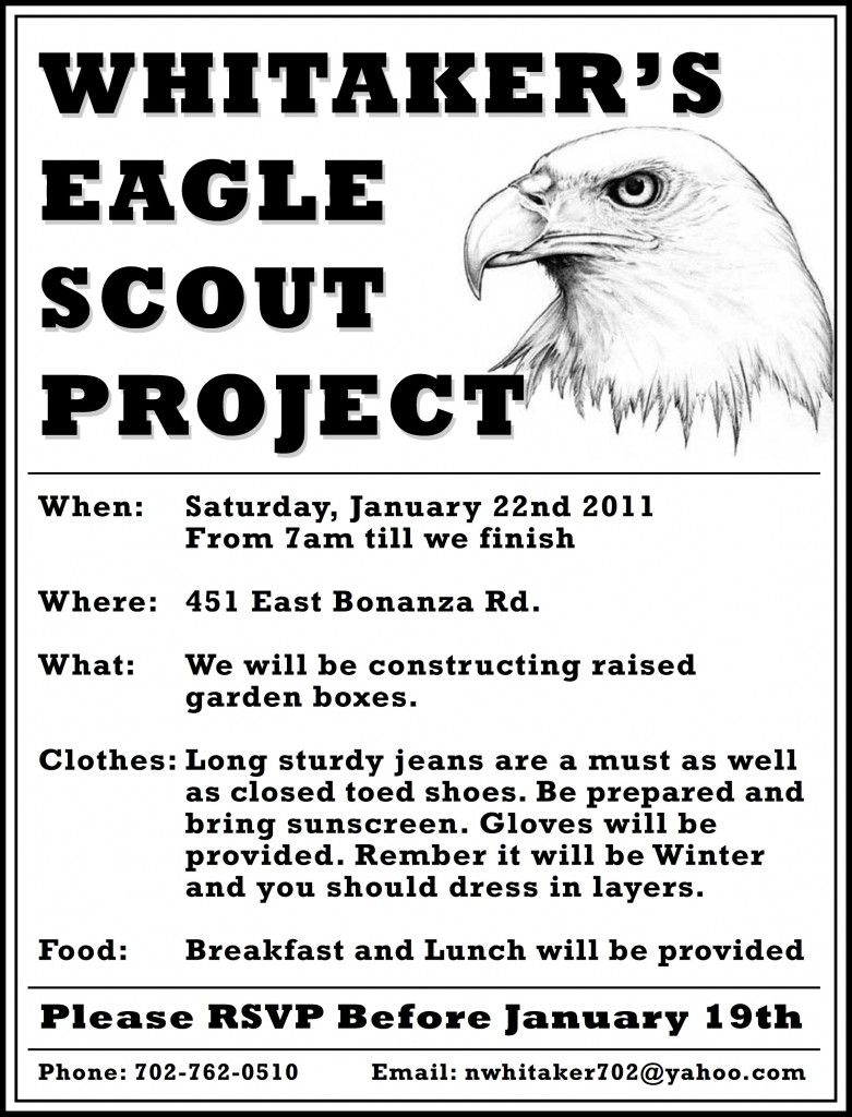 Images For > Eagle Scout Project | Eagle Project Flyers ...