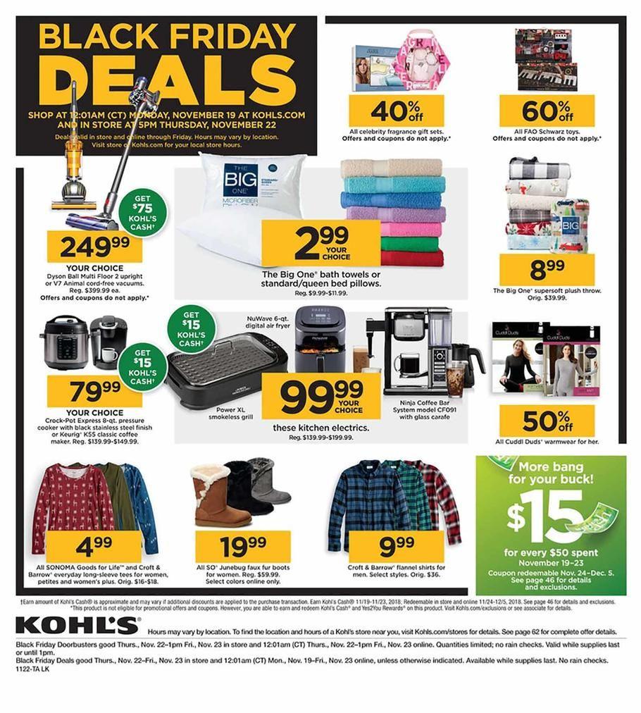 Kohls Black Friday Ad Scan, Deals and Sales 2019 Black