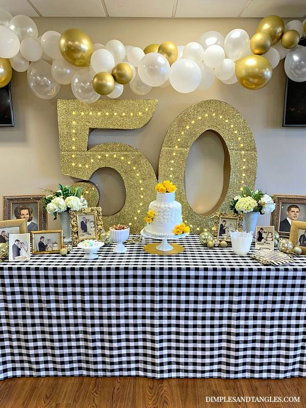50TH WEDDING ANNIVERSARY PARTY IDEAS in 2020 50th