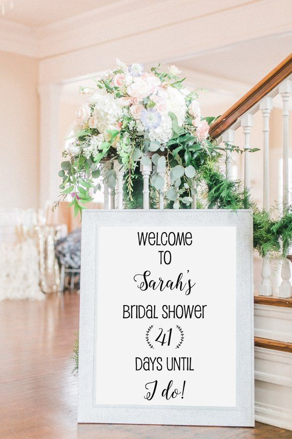 bridal shower decal wedding shower vinyl bridal shower decorations personalized wedding decal diy we
