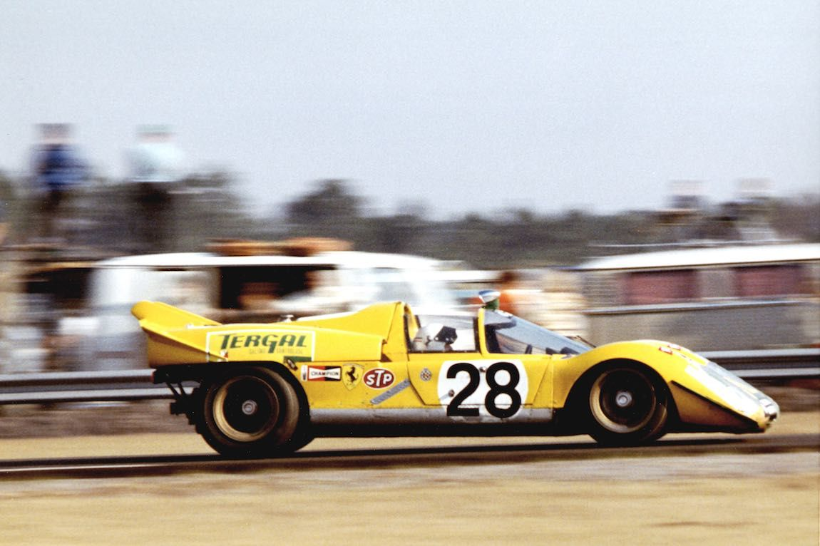 Escuderia Montjuich Ferrari 512 S Spyder of Arturo Merzario and Jose Juncadella at 1971 Daytona 24 Hours