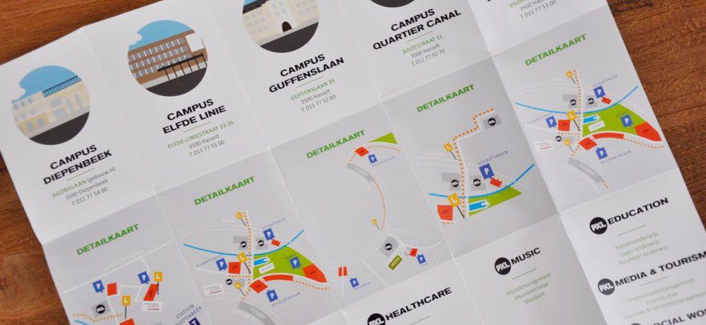 PXL Hasselt - plattegrond boordevol info voor studenten