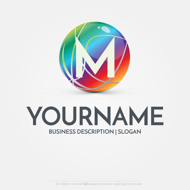 Online Free Logo Maker - Ready made 3D Globe logo design | Text ...